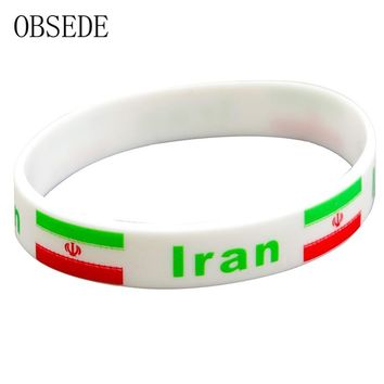 OBSEDE Casual Sport Silicone Bracelet National Flag World Cup Rubber Bangle for Women Men Statement Jewelry 2018 New