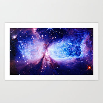 Wall Art| Space Print| A Star is Born Art Print | Nasa Space Print | Galaxy Print| Blue Purple Art | Educational Art | nebula| outer space