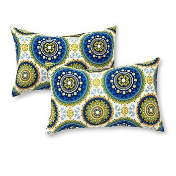 Greendale Home Fashions Rectangle Indoor/Outdoor Accent Pillows, Summer, Set of 2