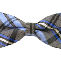 Winter Plaid - Blues (Bow Ties) from TheTieBar.com - Wear Your Good Tie Everyday