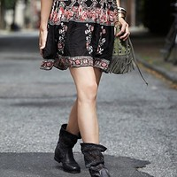 Free People Womens Crochet Slouch Boot - Carbon, 36 Euro