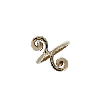 Elements Water Virtue Sterling Silver Bronze Ring