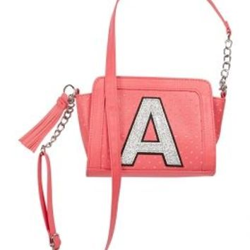 4a27dff4c1d Perforated Initial Crossbody Bag | Girls Fashion Bags Accessories | Shop  Justice