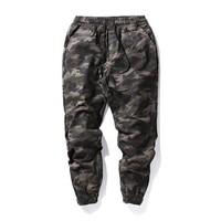 Casual Pants With Pocket Camouflage Black Skinny Pants [6543158531]
