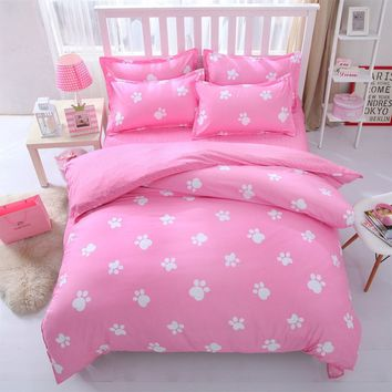 Pink Color Duvet Cover & Pillowcases Set NO Comforter Twin/Full/Queen/King Grils Bedroom Modern Fashion Decoration Size 3pcs