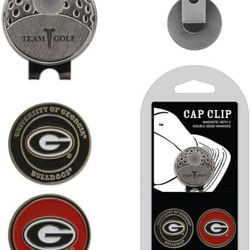 NCAA Georgia Bulldogs Hat Clip & 2 Magnetic Golf Ball Markers
