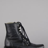 Harley Davidson Lace Up Leather Ankle Boots