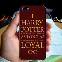 Hogwarts Harry Potter  Quotes - Photo Hard Case design for iPhone 4/4s Case, iPhone 5 Case, Black or White ( Choose Option )