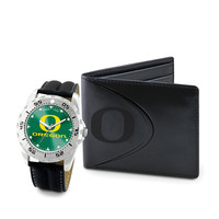 Oregon Ducks NCAA Men's Watch & Wallet Set