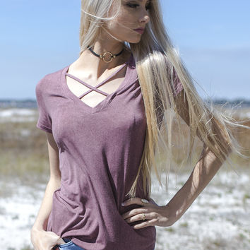 The Basic Babe Wine Vintage Top