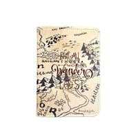 Not All Who Wander Are Lost World Map Passport Holder -Leather Passport Cover - Vintage Passport Wallet - Travel Accessory Gift - Travel Wallet for Women and Men_LOKISHOP