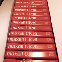 Box of 15 Factory Sealed Maxell UR 90 Blank Audio Cassette Tapes