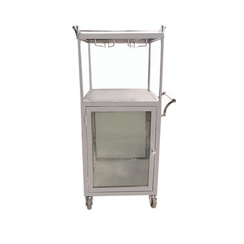 Yosemite Home Decor YFUR-AMYOBAR6 Shiny Stainless Steel Outdoor Serving Cart