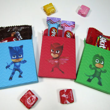 12 PJ Mask Party Favor Cover/Box - Candy Box - Chocolate Box - Treat Box - PJ Mask Boy/Girls Birthday Party Box - PJ Mask Classroom Favors