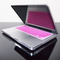 TopCase® PINK Keyboard Silicone Cover Skin for Macbook 13