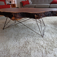 Mid Century Cats Cradle Coffee Table Base - Raw Steel
