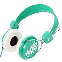 The WESC Conga Headphones in Blarney Green