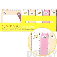 Alpaca Sheep Lamb Shaped Animal Memo Pad Post-it Index Sticky Tab Bookmarks