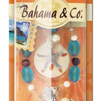 Bahama & Co. by Refresh Your Car! Sand Dollar Scented Neckalce, Oahu Island Splash