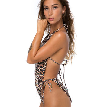 Lucky Swimsuit in Tiger Repeat by Motel