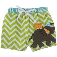 Mud Pie Safari Elephant Baby Boy Swim Trunk, Size (0-6 Months)