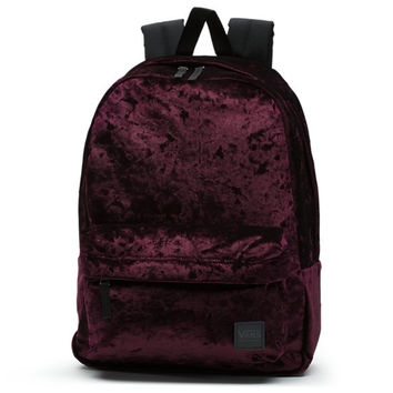 Deana Crushed Velvet Backpack | Shop Womens Backpacks At Vans