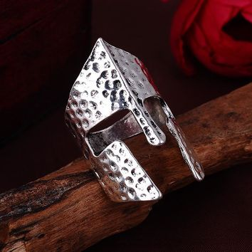 Classic Hammered Style Spartan Ring.  We are Spartans!
