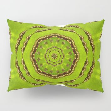 Golden Pattern Pillow Sham by Pepita Selles