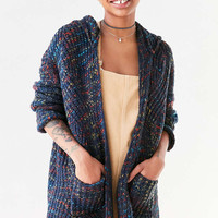 Ecote Rainbow Stitch Hooded Cardigan - Urban Outfitters
