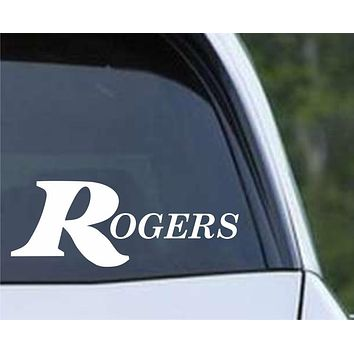 Rogers Drums Percussion Die Cut Vinyl Decal Sticker