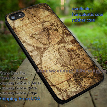 Vintage World Map Wood Texture iPhone 6s 6 6s+ 5c 5s Cases Samsung Galaxy s5 s6 Edge+ NOTE 5 4 3 #art dt