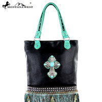 Purse Montana West Western Spiritual Collection Tribal Handbag leather Fringe