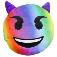 RAINBOW DEVIL EMOJI PILLOW