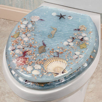 Jewel Shell Elongated Toilet Seat