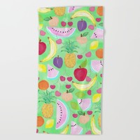 Fruit Punch Beach Towel by Lisa Argyropoulos