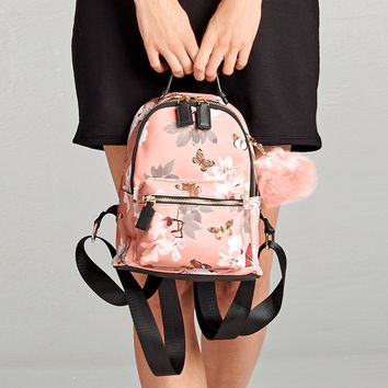 Butterfly Floral Mini Backpack