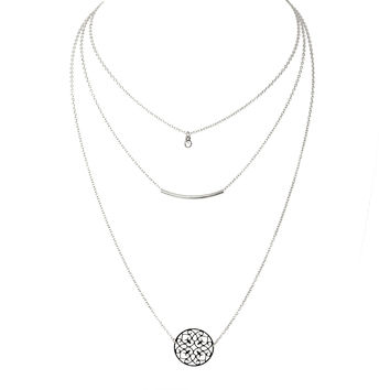 New Beginnings Layered Silver Necklace From Dainty Hooligan