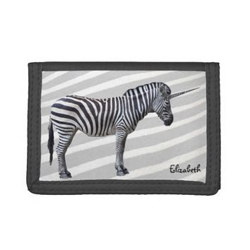 Sad Zebra Unicorn Wallet