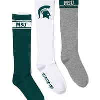 Michigan State University 3-Pack Sock Set - PINK - Victoria's Secret