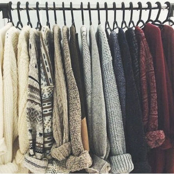 Warm Vintage Hipster Mystery Sweaters - All Colors, Styles & Sizes