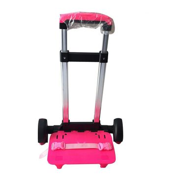 3 Wheel Fold Pull Rod Bracket Roll Cart Trolley Backpacks easy climb the stairs,mochila infantil rodinha mochilas school kids
