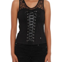 Royal Bones Black Lace-Up Corset