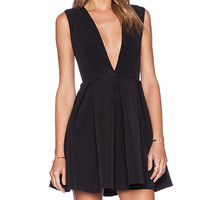 AQ/AQ Vicious Mini Dress in Black