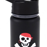 Eco Vessel Scout Kids Stainless Steel Bottle w/ Straw: Pirate