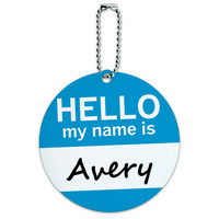 Avery Hello My Name Is Round ID Card Luggage Tag