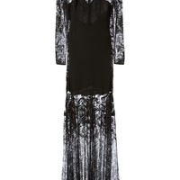 Roberto Cavalli Lace Sheer Beaded Gown - Luisa World - Farfetch.com