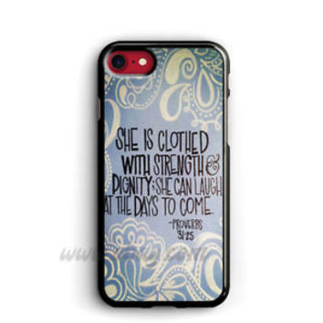 Bible Verse Proverbs 31 25 iPhone Cases Samsung Galaxy Phone Cases iPod Cover