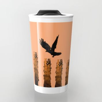 Crow Prey Travel Mug by ES Creative Designs