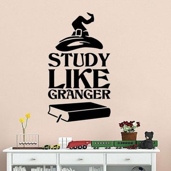 Study Like Granger Harry Potter Vinyl Wall Decal Classroom Bedroom