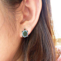 Beautiful Turtle Earring's from Zefashionista